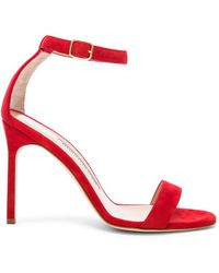 Manolo Blahnik - Suede Chaos 105 Sandals - Lyst