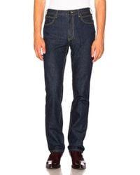 CALVIN KLEIN 205W39NYC - High Rise Straight Leg Jeans - Lyst