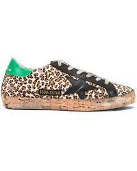 dbb321c1a18 Golden Goose Deluxe Brand - Cork Sole Superstar Sneakers - Lyst