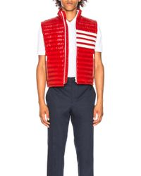 Thom Browne - 4 Bar Stripe Downfill Quilted Vest - Lyst