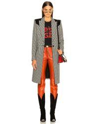 Givenchy - Houndstooth & Velvet Coat - Lyst