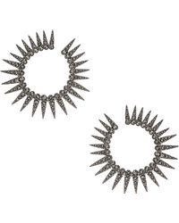 Oscar de la Renta - Sea Urchin Large Crystal Earrings - Lyst