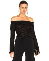 Erdem - Bella Lace Knit Off The Shoulder Jumper - Lyst