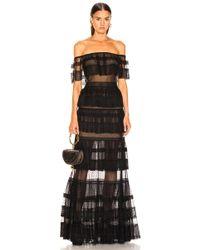 Zuhair Murad - Tiered Lace Dress - Lyst
