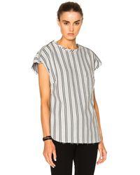 Frankie - Striped Wool Top - Lyst