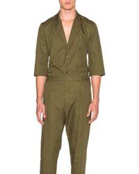 Lemaire - Light Cotton Linen Twill Short Sleeve Jacket - Lyst