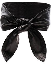 Rodarte - Lambskin Tie Waist Belt - Lyst
