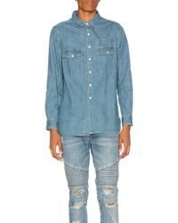 Stampd - Washed Denim Work Shirt - Lyst