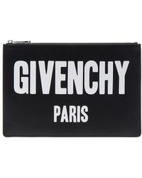 Givenchy - Paris Printed Medium Pouch - Lyst