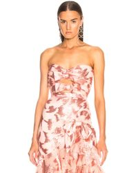 Rodarte - Sequin & Tulle Strapless Bustier With Bow Details - Lyst