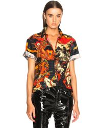 Givenchy - Print Short Sleeve Shirt - Lyst