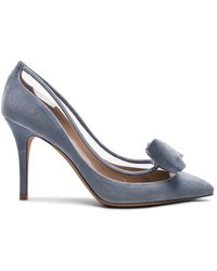 Valentino - Velvet Dollybow Removable Bow Court Shoes - Lyst
