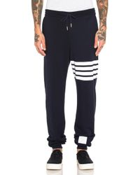 Thom Browne | Cotton Sweatpants | Lyst
