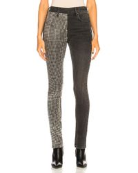 Alexander Wang - Slim Slouch With Studded Paneled Leg - Lyst
