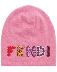 Fendi | Embellished Beanie | Lyst