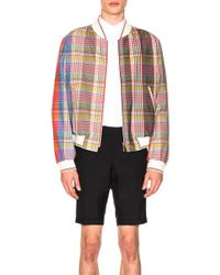 Thom Browne - Madras Check Wool Jacket - Lyst