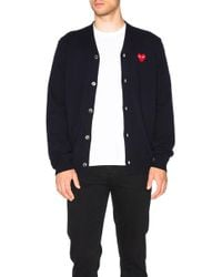 Play Comme des Garçons - Lambswool Cardigan With Red Emblem - Lyst
