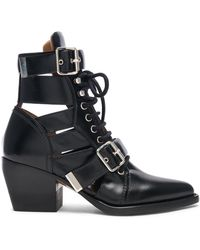 Chloé - Rylee Leather Lace Up Buckle Boots - Lyst