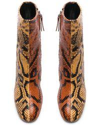 Proenza Schouler - Bicolor Python Print Ankle Boots - Lyst