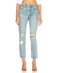 RE/DONE - Originals High Rise Straight - Lyst