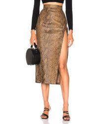 Zeynep Arcay - For Fwrd Snake Skin Print Leather Midi Skirt - Lyst