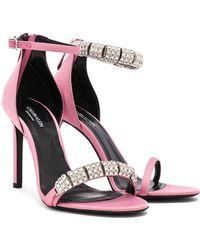 CALVIN KLEIN 205W39NYC - Satin Camelle 501 Sandals - Lyst