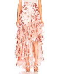 Rodarte - Sequin & Tulle Ruffled Skirt With Bow Detail - Lyst