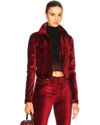 Cotton Citizen - For Fwrd Velvet Crop Utility Jacket - Lyst