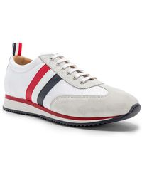 Thom Browne - Suede Running Shoes - Lyst