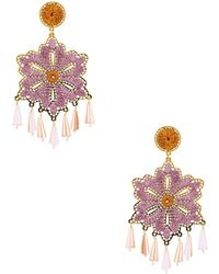 Mercedes Salazar Hibiscus Earrings