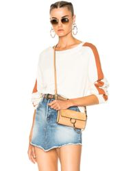 The Great - Jumper In Rust & Washed White - Lyst