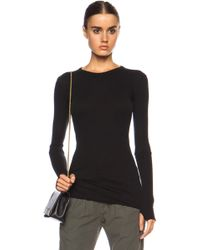 Enza Costa Cuffed Crew Cashmere-blend Jumper - Black
