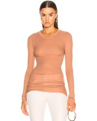 Enza Costa | Rib Long Sleeve Tee | Lyst