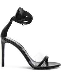 CALVIN KLEIN 205W39NYC - Leather Camri Ankle Tie Sandals - Lyst
