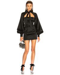 Attico - Priscilla Tie Neck Mini Dress - Lyst