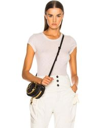 Enza Costa - Rib Fitted Cap Sleeve Tee - Lyst