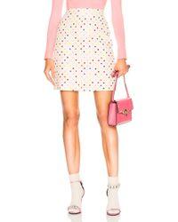 Valentino - Polka Dot Mini Skirt - Lyst