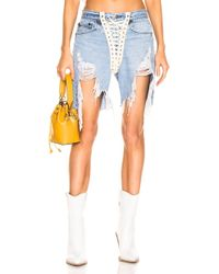 R13 - Refurbished Front Lace Up Short - Lyst