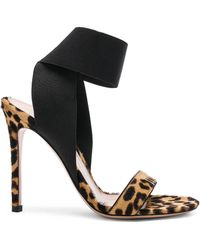 Gianvito Rossi - Calf Hair & Elastic Dionne Ankle Strap Sandals - Lyst