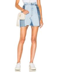 RE/DONE - Seamed High Waisted Skirt - Lyst
