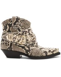 Zimmermann - Snakeskin Embossed Cowboy Boots - Lyst