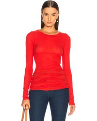 Enza Costa - Rib Long Sleeve Tee - Lyst