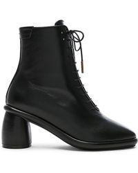 Reike Nen - Leather Plain Middle Lace Up Boots - Lyst