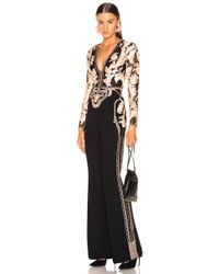 Zuhair Murad - Floral Frame Embroidered Jumpsuit - Lyst