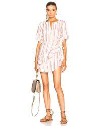 lemlem - Juni Flounce Dress In Rust - Lyst