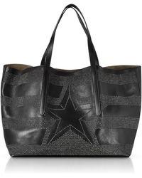 Jimmy Choo - Pimlico Tao Large Black Leather Tote - Lyst