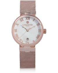 Lancaster - Chimaera Rose Gold Stainless Steel Watch - Lyst
