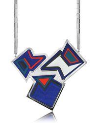 Avril8790 - Ziggy Palladium Plated Brass And Viscose Pendant Necklace - Lyst