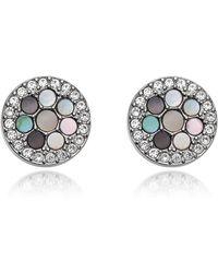 Fossil - Vintage Glitz Crystal Studs Jewelry - Lyst
