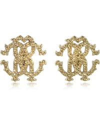 Roberto Cavalli | Rc Lux Crystals Stud Earrings | Lyst